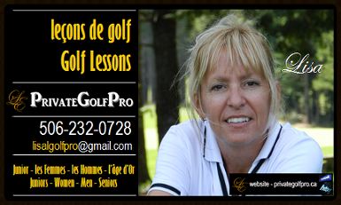Lisa's golf lesson business card
